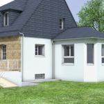 plan 3D extension maison Kervignac Morbihan