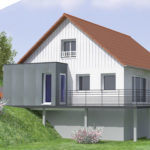 plan 3D extension maison 74140