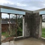 travaux maçonnerie extension maison 56700