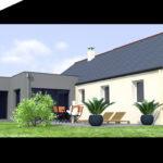 plan 3D extension maison 44260
