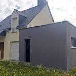 Extérieur de l'extension de maison à Pléchatel