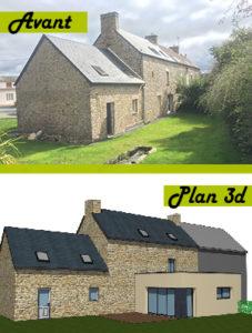 Une extension de maison à Cherbourg