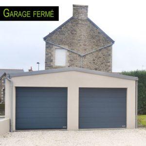 Une extension de garage fermée et indépendante