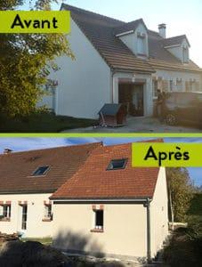 Extension de maison près de Montargis