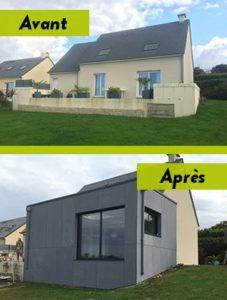 Extension du salon à Cherbourg en Cotentin