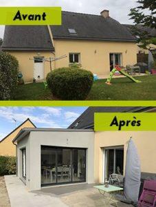 Extension de maison contemporaines à Vitré (35500)