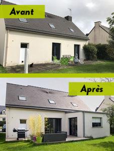 Travaux d'extension de maison à Gévezé (35250)