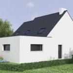 Projection 3D extension de maison