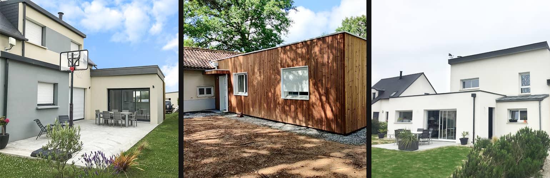 Des agrandissements de maison avec des toits plats