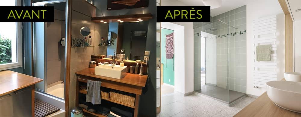 Travaux de rénovation de la salle de bains