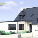Projection 3D de l'extension de maison