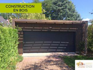 Du bois pour l'extension de garage.