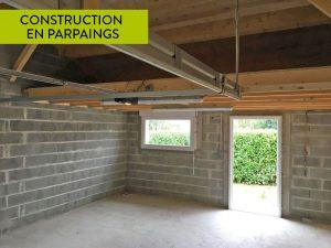 Construction extension de garage en parpaings