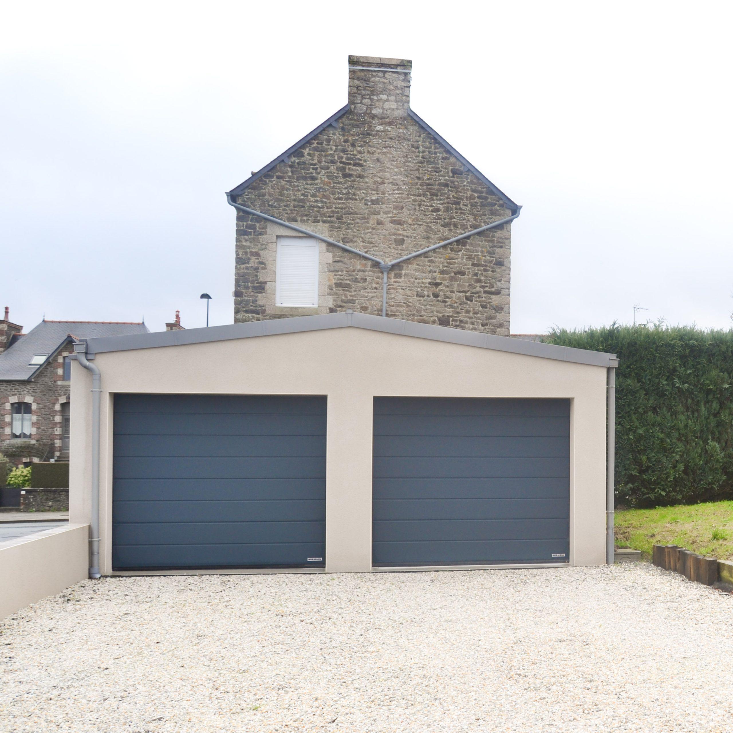 Un double garage indépendant