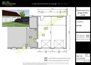 Extension garage double accolé à la maison