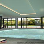 Projection HD de la piscine couverte.