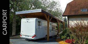 Un carport en bois pour son camping car.