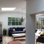 Un nouveau salon dans l'extension de maison