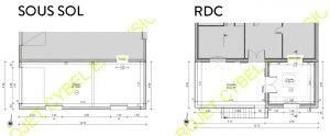 Plan de l'agrandissement de garage et de cuisine