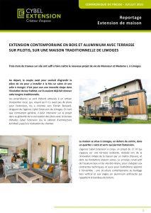 Article de presse réalisation d'une extension à Limoges