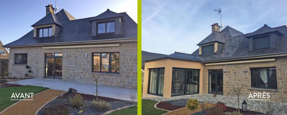 Une extension vitrée pour moderniser la maison