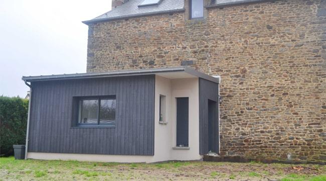 Une extension contemporaine sur une ancienne maison