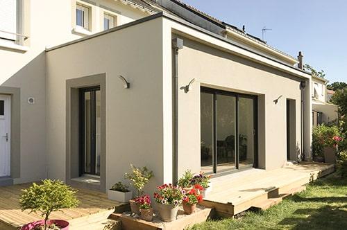 Extension en façade arrière