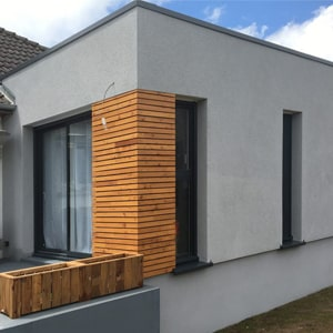 Un agrandissement à toit plat