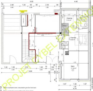 Plan extension de maison traditionnelle à Vannes